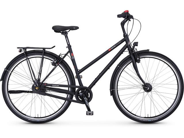 vsf fahrradmanufaktur T-100 toerfiets Trapeze Nexus 8-speed FL zwart